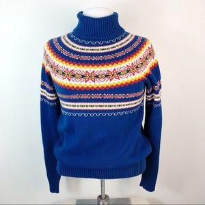 VTG Pendleton Nordic Fair Isle Ski Sweater Sz S